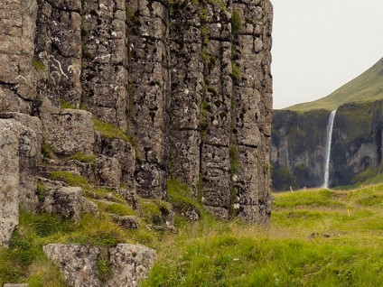 Columnar Basalt and Waterfall