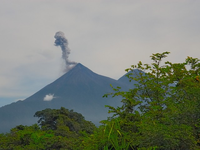 Fuego Volcano – Ash Eruption
