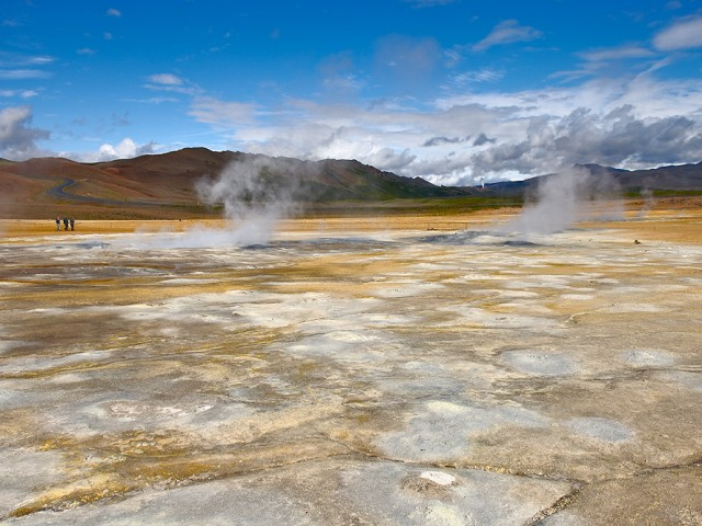 Colorful Sulphur Deposits and Active Fumaroles