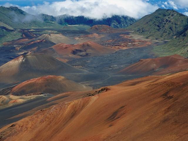 Volcanic Cones in Haleakala Crater