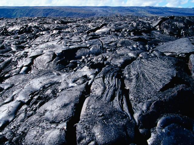 Pahoehoe Lava Field