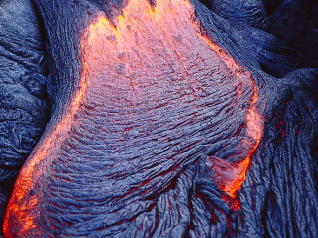 Formation of Pahoehoe