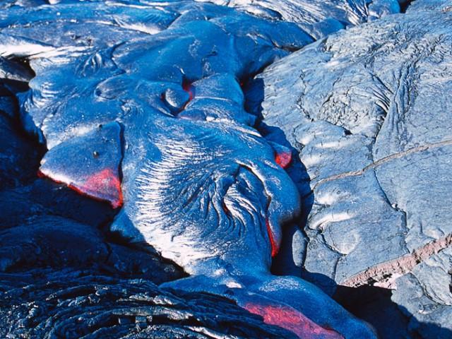 Pahoehoe Lava, Kilauea Volcano
