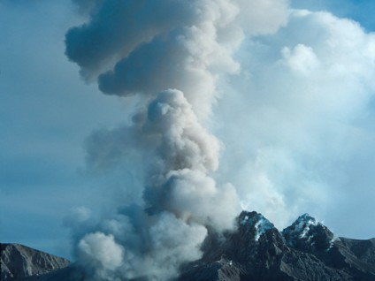 Gas Eruption – Soufriere Hills Volcano