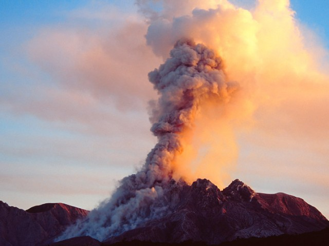 Ash Eruption – Soufriere Hills Volcano